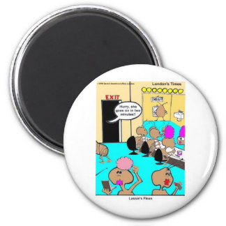 Lassie's Fleas Funny Cartoon Tees & Gifts 6 Cm Round Magnet
