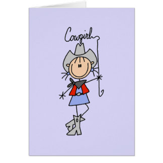 Lasso Cowgirl T-shirts and Gifts Card
