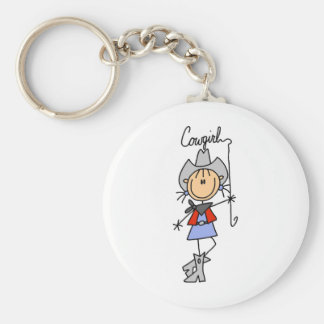 Lasso Cowgirl T-shirts and Gifts Key Ring