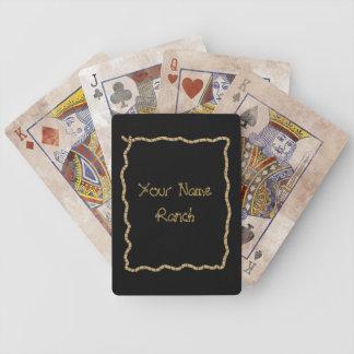 Lasso Rope Frame - Funny Cute Western Poker Deck