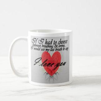 last breath: Love Basic White Mug