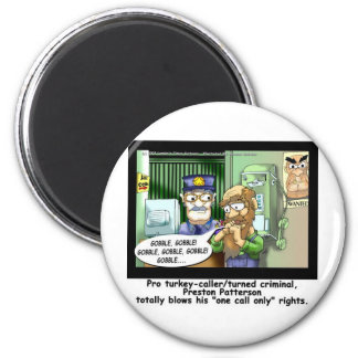 Last Call 4 Turkeys Funny Cartoon Gifts 6 Cm Round Magnet