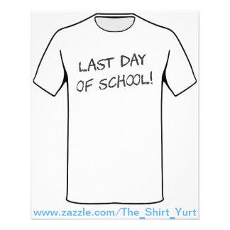 Last Day of School 11.5 Cm X 14 Cm Flyer