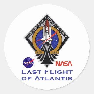 Last Flight of Atlantis Round Sticker