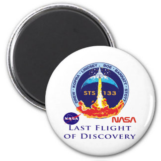 Last Flight of Discovery 6 Cm Round Magnet