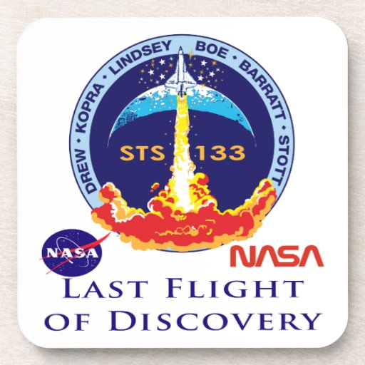 Last Flight of Discovery Beverage Coaster