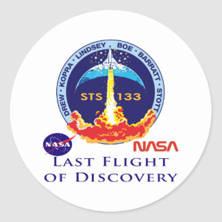 Last Flight of Discovery Round Sticker