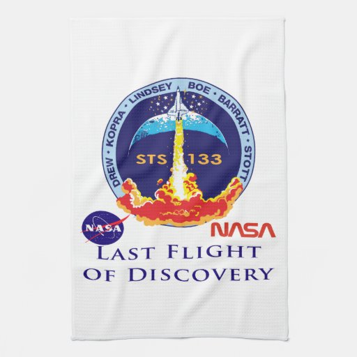 Last Flight of Discovery Kitchen Towel