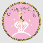 Last Fling before the Ring  |  Favour Sticker