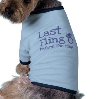 Last fling before the ring with diamond doggie t-shirt