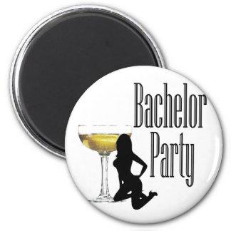 Last Fling fun bachelor party 6 Cm Round Magnet