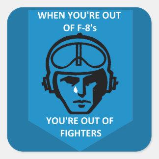 Last Gunfighter F-8 Square Sticker
