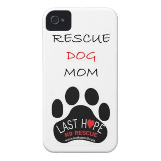 Last Hope K9 Rescue iPhone 4 Rescue Dog Mom iPhone 4 Case-Mate Case