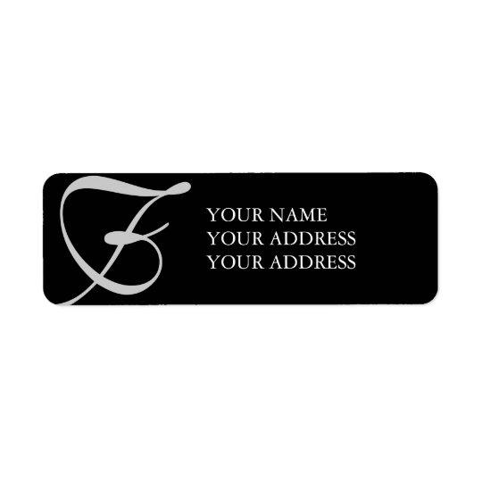 Last Initial Address Label