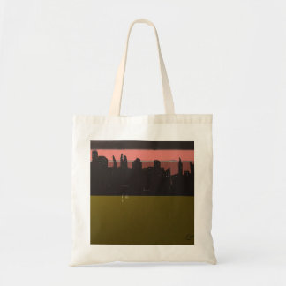 Last Light Digital Abstract Painting Tote Bags