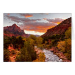 Last Light On The Watchman Greeting Card