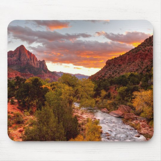Last Light On The Watchman Mouse Mat