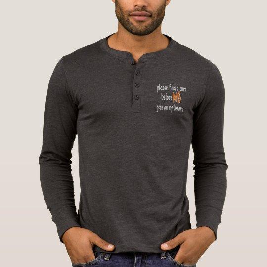 Last Nerve Men's Henley Dark Long Sleeve Shirt