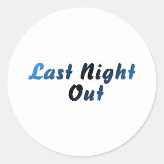 Last Night Out (blue) Round Sticker