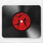 Last Night The DJ Saved My Life Vinyl Record Black Mouse Pads
