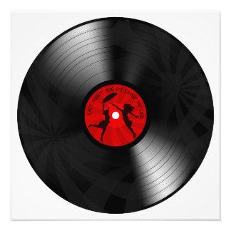 Last Night The DJ Saved My Life Vinyl Record Black Photographic Print