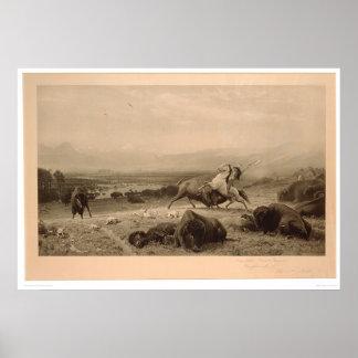Last of the Buffalo Bierstadt (0137A) - Restored Poster