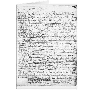 Last page of 'A la Recherche du Temps Perdu' Card