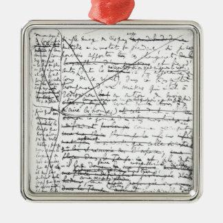 Last page of 'A la Recherche du Temps Perdu' Christmas Ornament