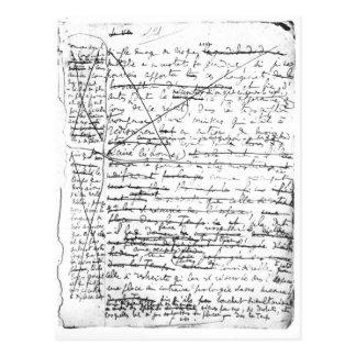 Last page of 'A la Recherche du Temps Perdu' Postcard