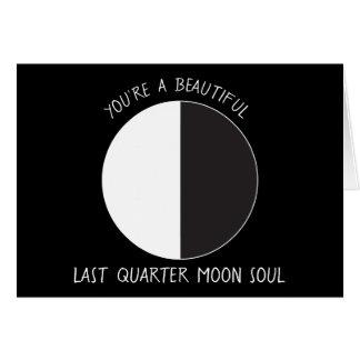 Last Quarter MOON Phase Greeting Card