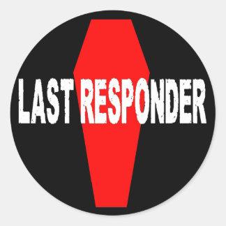 Last Responder Round Sticker