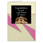 Last Round of Chemo Congratulations Card-Dog Card
