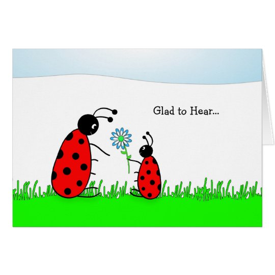 Last Round of Chemo Congratulations Card-Lady Bugs Card