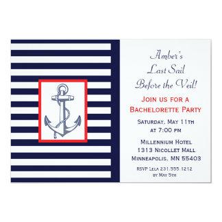 Last Sail Before the Veil Bachelorette Invitation