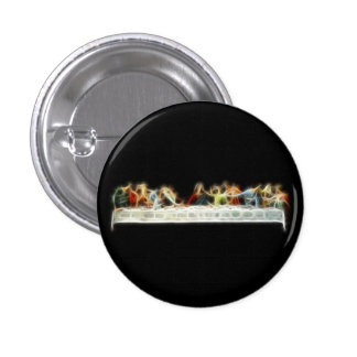 Last Supper da Vinci Jesus Fractal Painting 3 Cm Round Badge