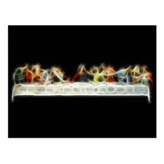 Last Supper da Vinci Jesus Fractal Painting Postcard