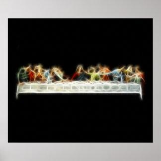 Last Supper da Vinci Jesus Fractal Painting Posters