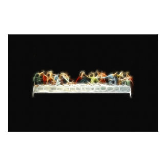 Last Supper da Vinci Jesus Fractal Painting Stationery