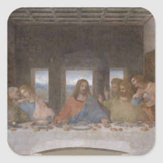 Last Supper Leonardo Da Vinci Painting Square Sticker
