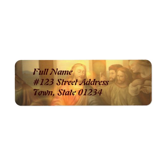 Last Supper Mailing Label Return Address Label