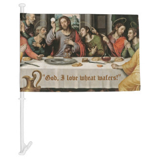 Last Supper Wheat Wafers Car Flag