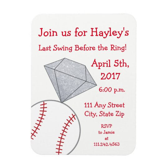 Last Swing Before Ring Bachelorette Invite Magnet