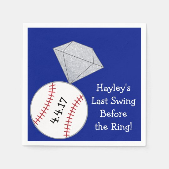 Last Swing Before Ring Bachelorette Party Napkins Disposable Napkins