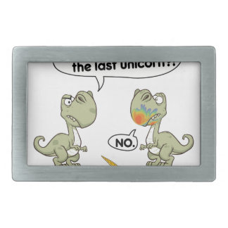 Last unicorn rectangular belt buckle