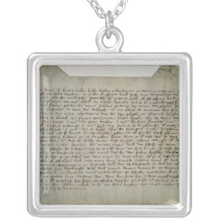 Last will and testament artist Master Bertram Silver Plated Necklace