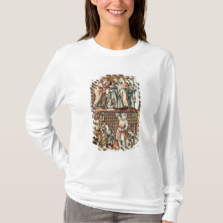 Lat 1023 f.7v David and Goliath with Saul by Le Be T-Shirt
