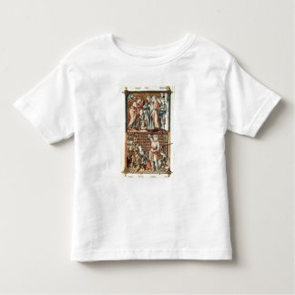Lat 1023 f.7v David and Goliath with Saul by Le Be Toddler T-Shirt