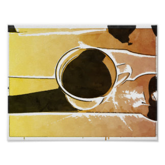 Late Afternoon Coffee Cup Pop Art Print