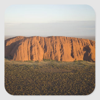 Late Afternoon Light on Uluru / Ayers Rock, Square Sticker