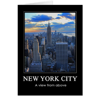 Late afternoon NYC Skyline as sunset approaches 1C Greeting Card